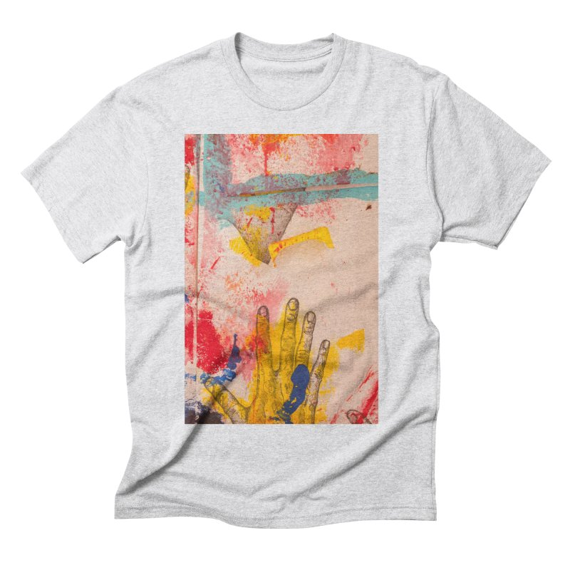 Abstract in Yellow Men's Triblend T-Shirt by dimmerlight's Artist Shop