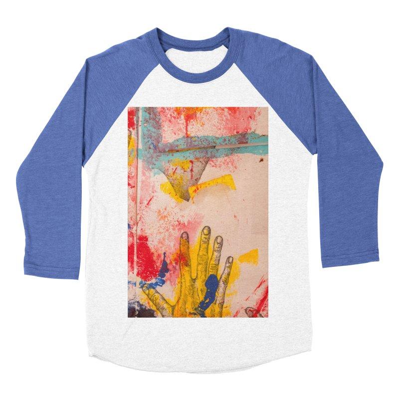 Abstract in Yellow Women's Baseball Triblend Longsleeve T-Shirt by dimmerlight's Artist Shop