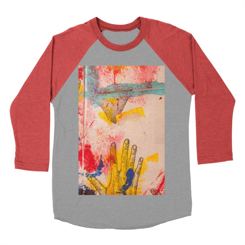 Abstract in Yellow Women's Baseball Triblend T-Shirt by dimmerlight's Artist Shop