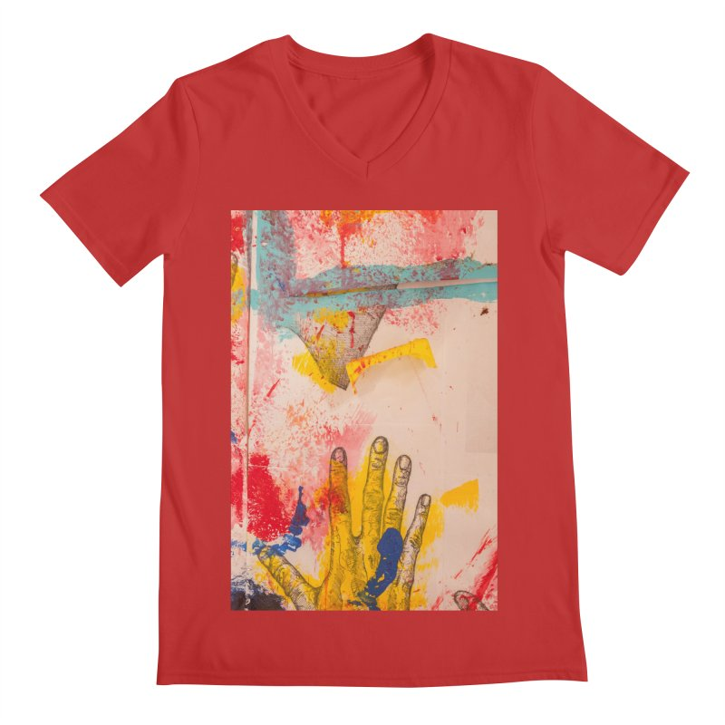 Abstract in Yellow Men's Regular V-Neck by dimmerlight's Artist Shop