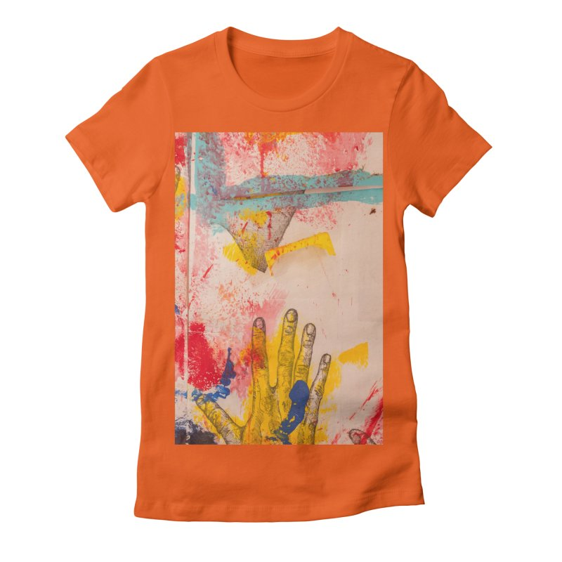 Abstract in Yellow Women's Fitted T-Shirt by dimmerlight's Artist Shop