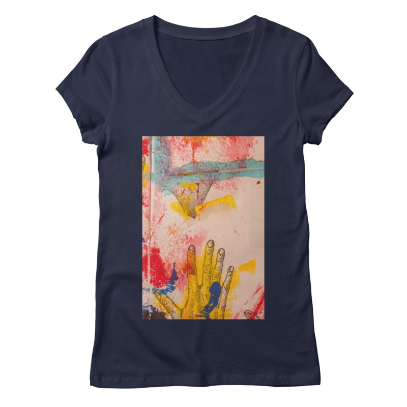 Abstract in Yellow Women's Regular V-Neck by dimmerlight's Artist Shop