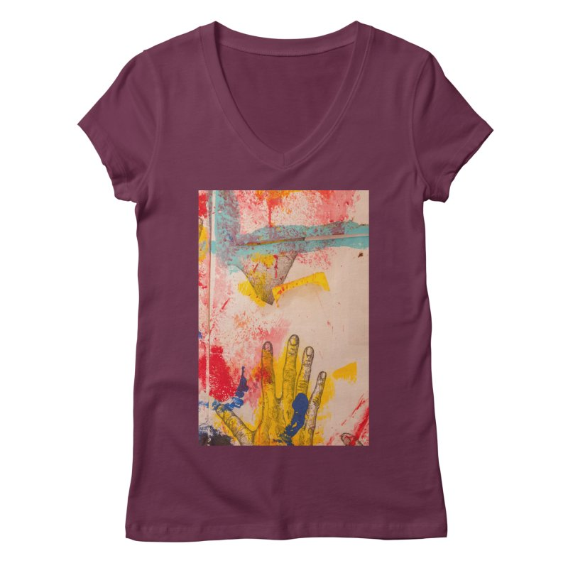 Abstract in Yellow Women's V-Neck by dimmerlight's Artist Shop
