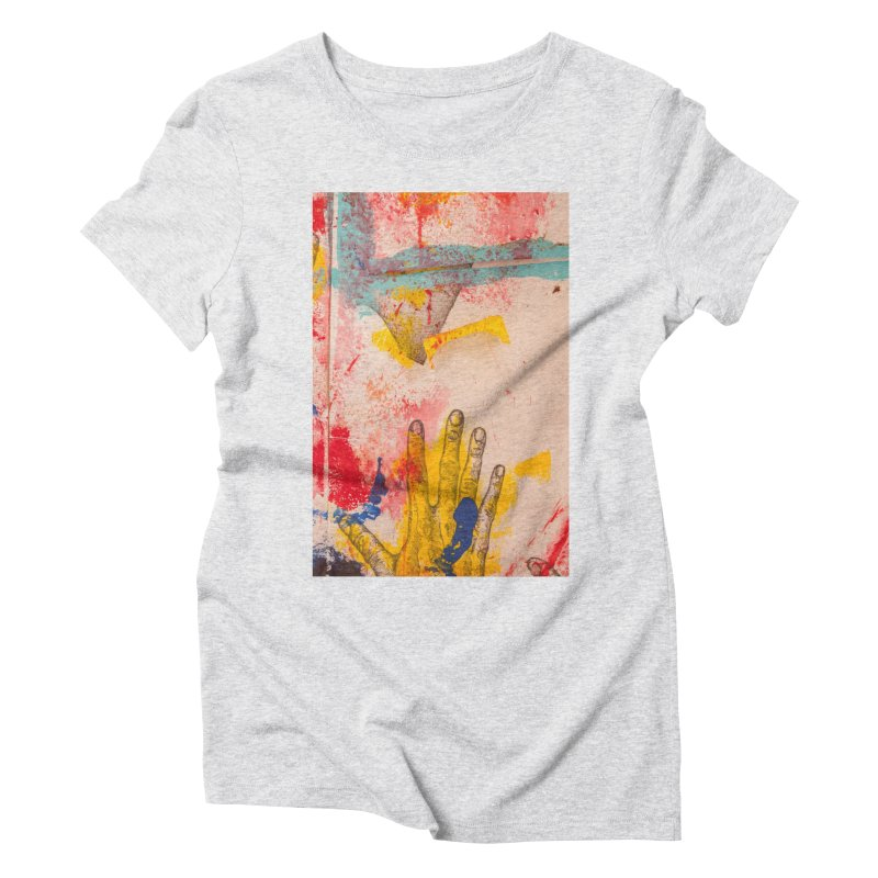 Abstract in Yellow Women's Triblend T-Shirt by dimmerlight's Artist Shop