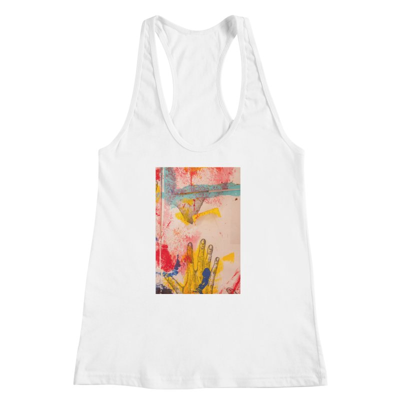 Abstract in Yellow Women's Racerback Tank by dimmerlight's Artist Shop