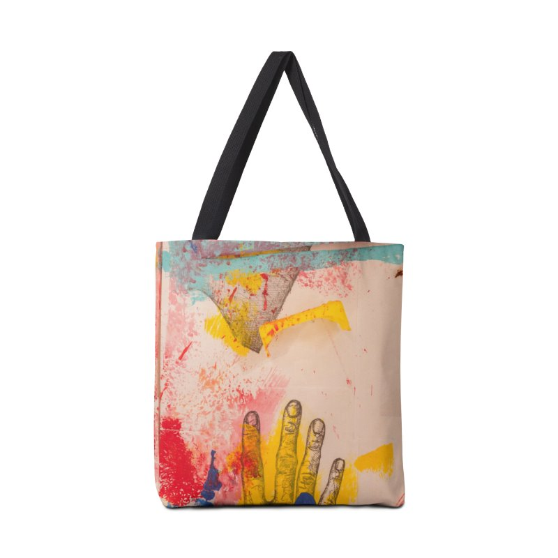 Abstract in Yellow Accessories Bag by dimmerlight's Artist Shop