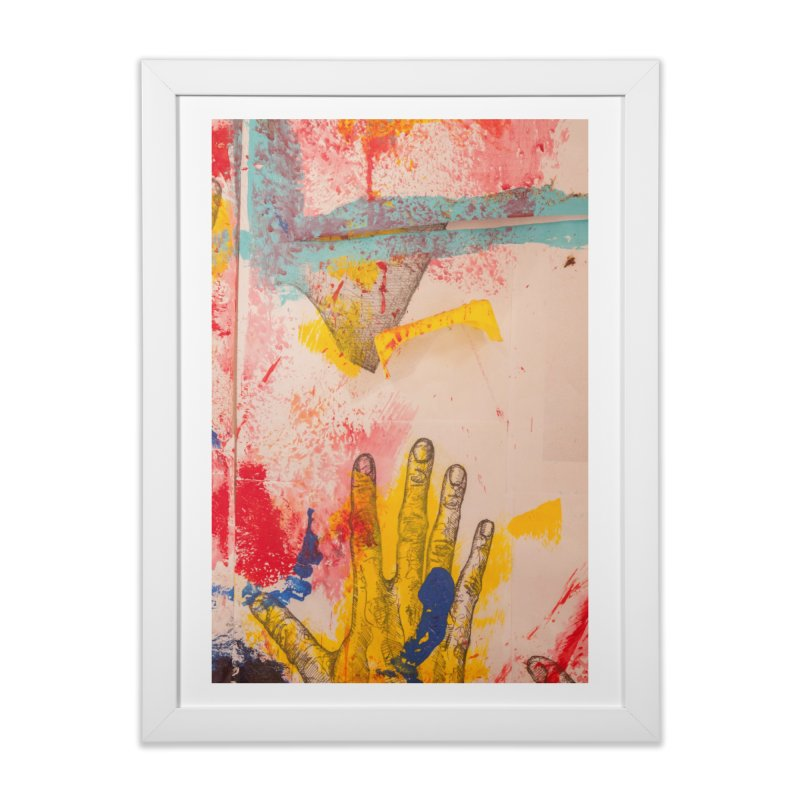 Abstract in Yellow Home Framed Fine Art Print by dimmerlight's Artist Shop