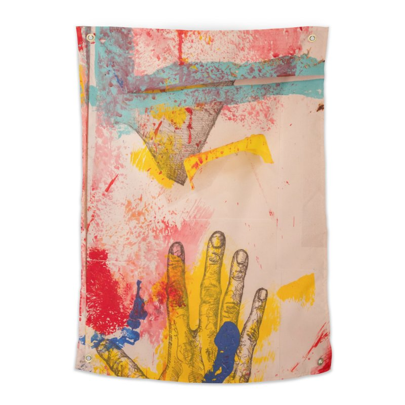 Abstract in Yellow Home Tapestry by dimmerlight's Artist Shop