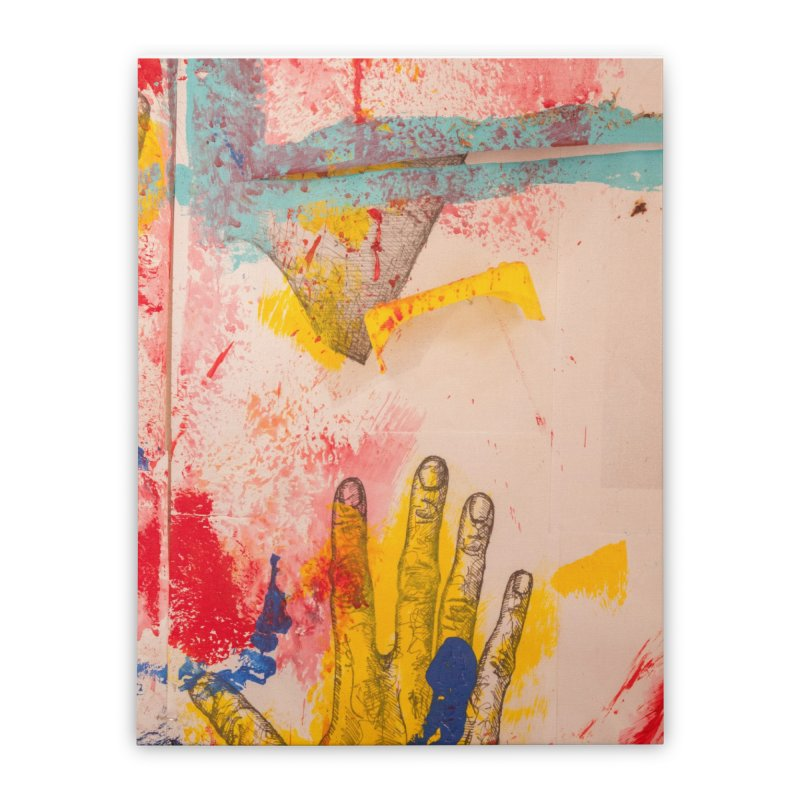 Abstract in Yellow Home Stretched Canvas by dimmerlight's Artist Shop