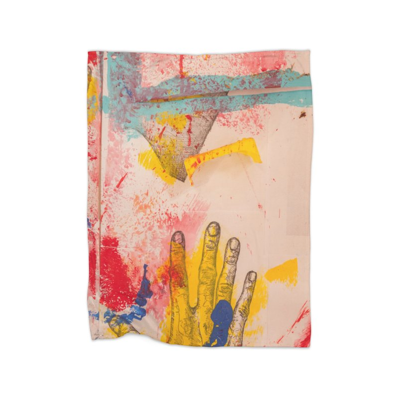 Abstract in Yellow Home Blanket by dimmerlight's Artist Shop