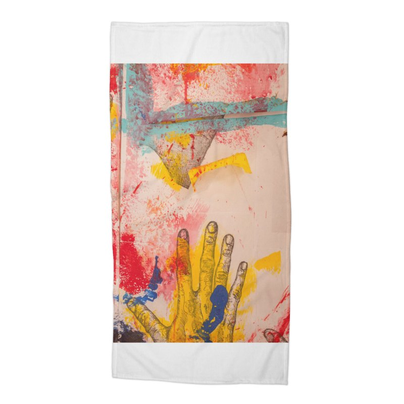 Abstract in Yellow Accessories Beach Towel by dimmerlight's Artist Shop