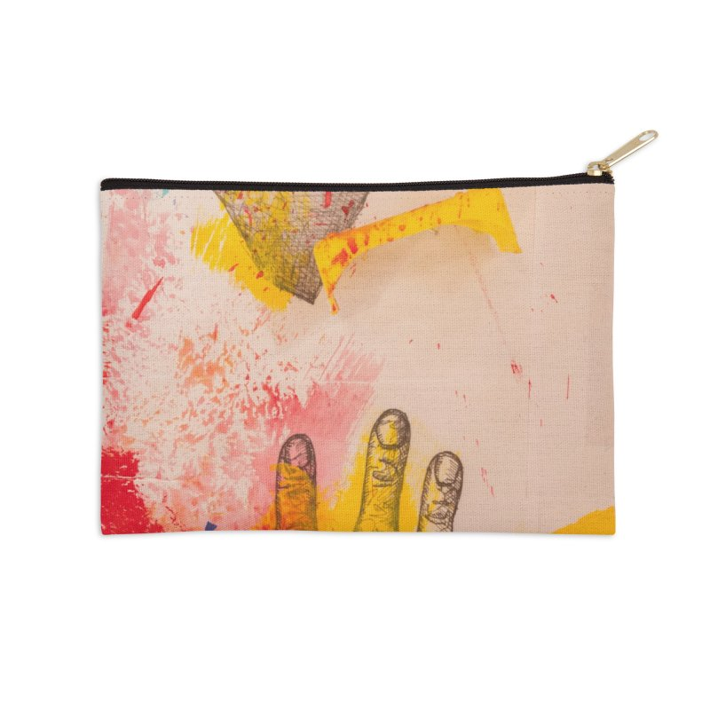 Abstract in Yellow Accessories Zip Pouch by dimmerlight's Artist Shop