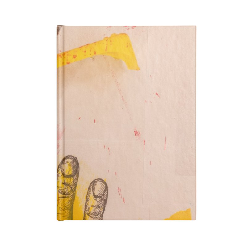 Abstract in Yellow Accessories Notebook by dimmerlight's Artist Shop
