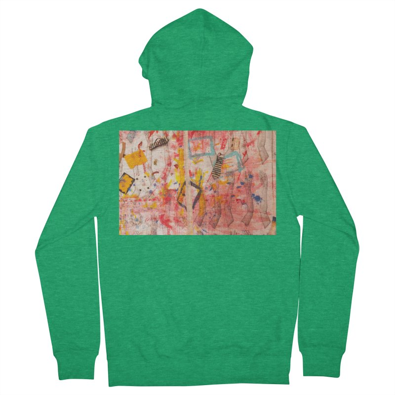 Composition in Red and Yellow Women's Zip-Up Hoody by dimmerlight's Artist Shop