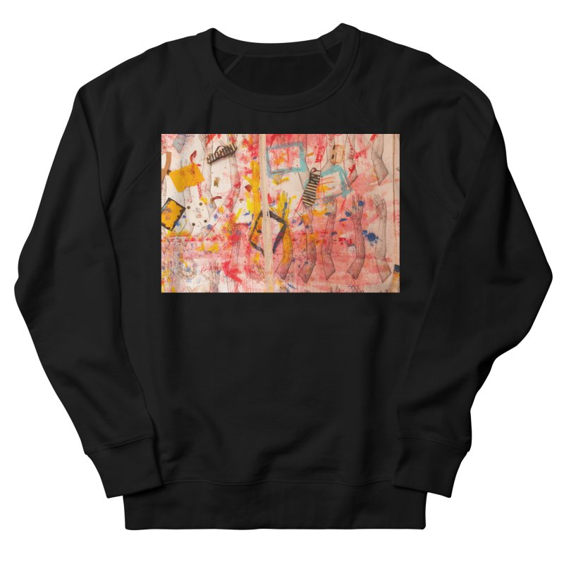 Composition in Red and Yellow Women's French Terry Sweatshirt by dimmerlight's Artist Shop