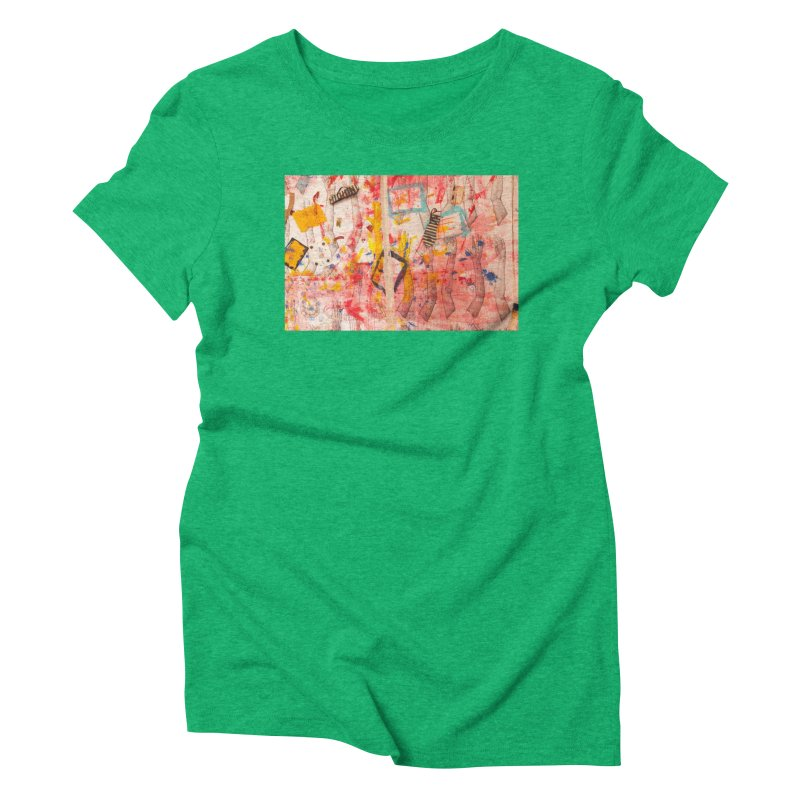 Composition in Red and Yellow Women's Triblend T-Shirt by dimmerlight's Artist Shop