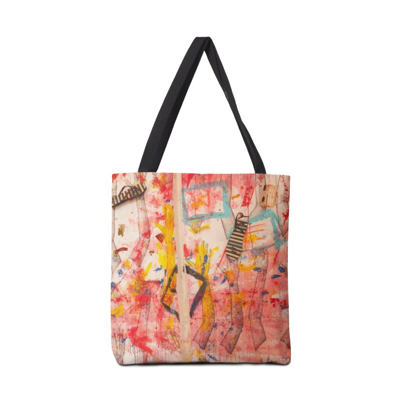 Composition in Red and Yellow Accessories Bag by dimmerlight's Artist Shop