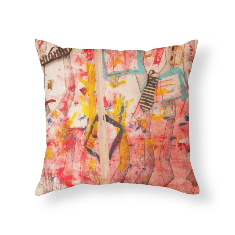 Composition in Red and Yellow Home Throw Pillow by dimmerlight's Artist Shop