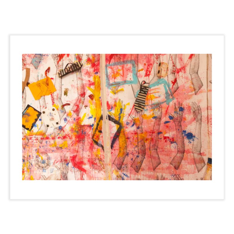 Composition in Red and Yellow Home Fine Art Print by dimmerlight's Artist Shop