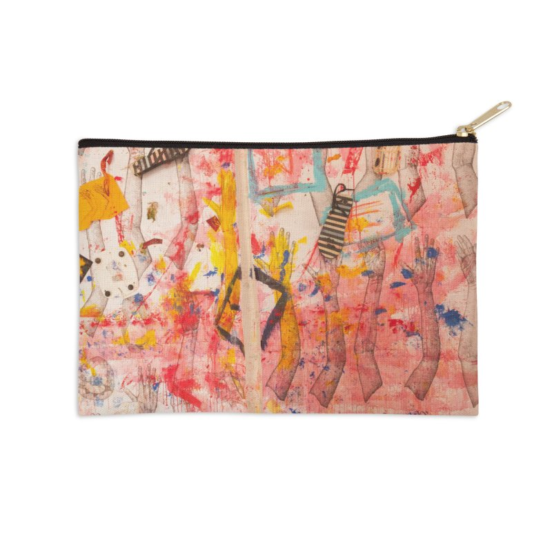 Composition in Red and Yellow Accessories Zip Pouch by dimmerlight's Artist Shop