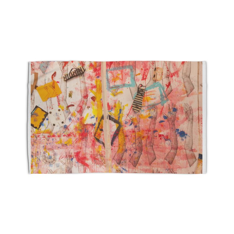 Composition in Red and Yellow Home Rug by dimmerlight's Artist Shop