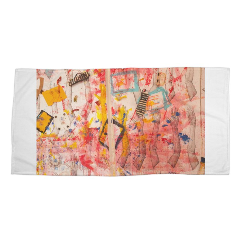 Composition in Red and Yellow Accessories Beach Towel by dimmerlight's Artist Shop