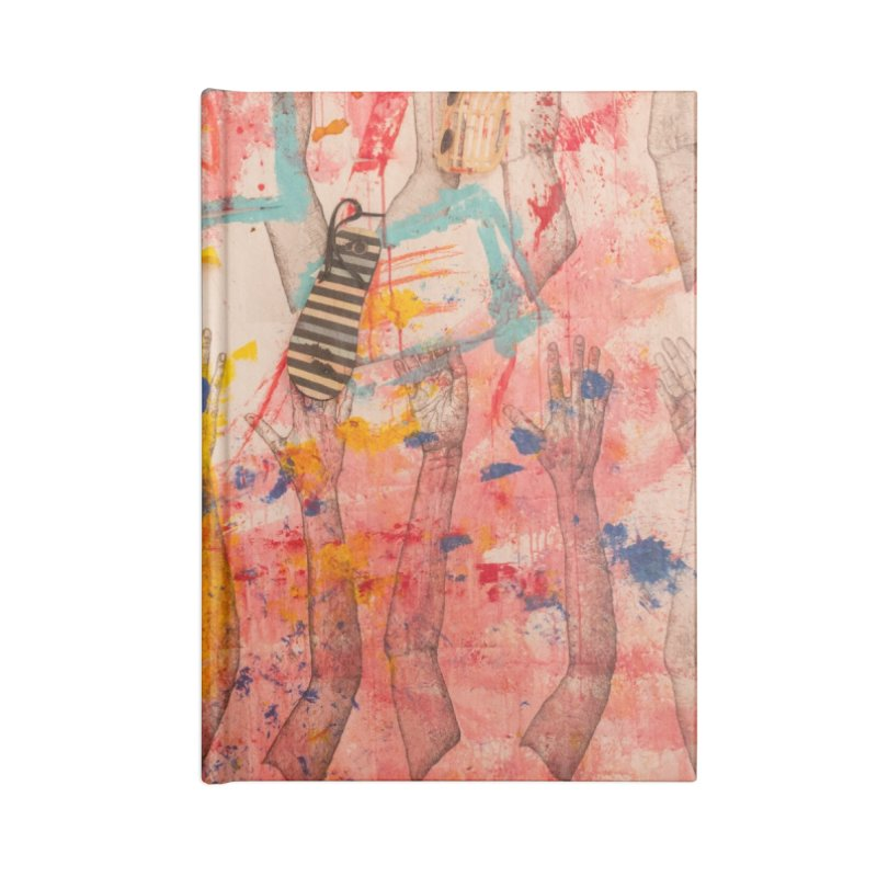 Composition in Red and Yellow Accessories Notebook by dimmerlight's Artist Shop