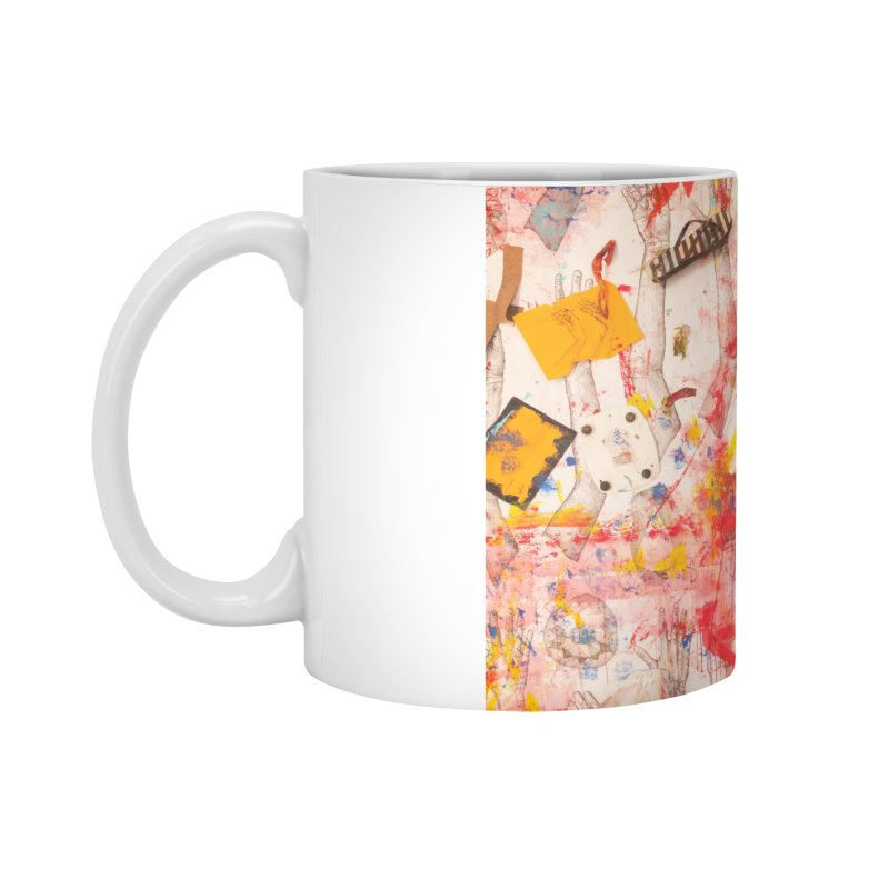 Composition in Red and Yellow Accessories Mug by dimmerlight's Artist Shop