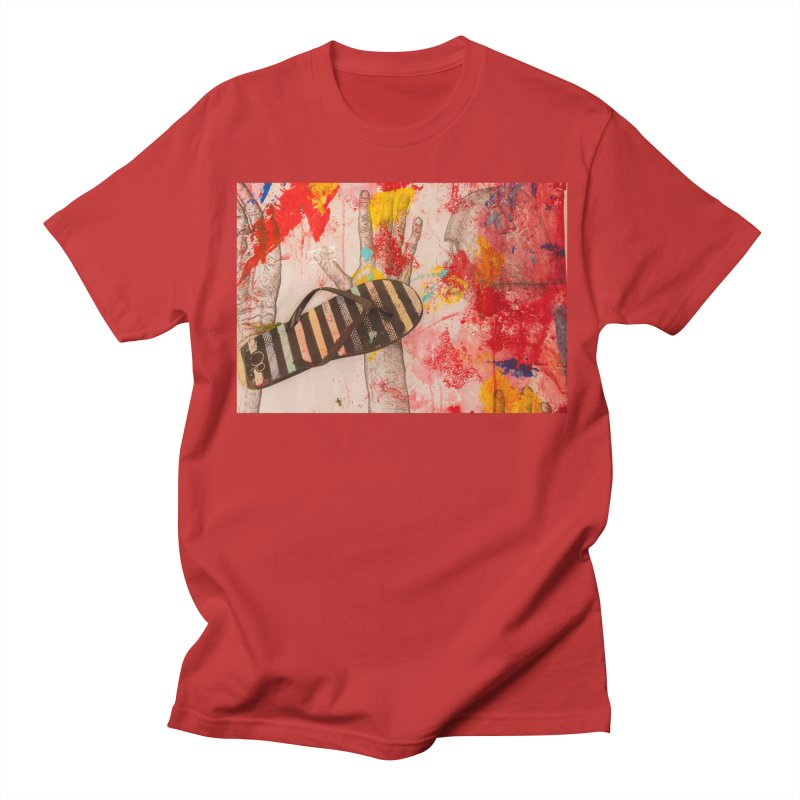 Red Helmet Men's T-Shirt by dimmerlight's Artist Shop