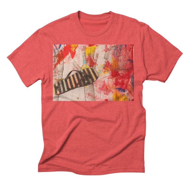 Red Helmet Men's Triblend T-Shirt by dimmerlight's Artist Shop