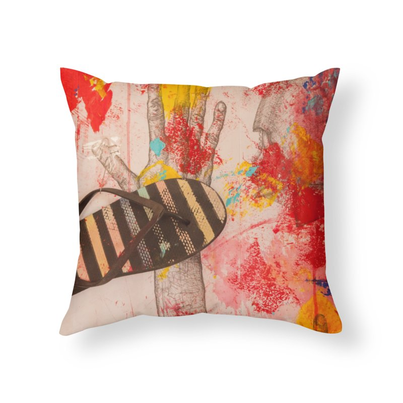 Red Helmet Home Throw Pillow by dimmerlight's Artist Shop