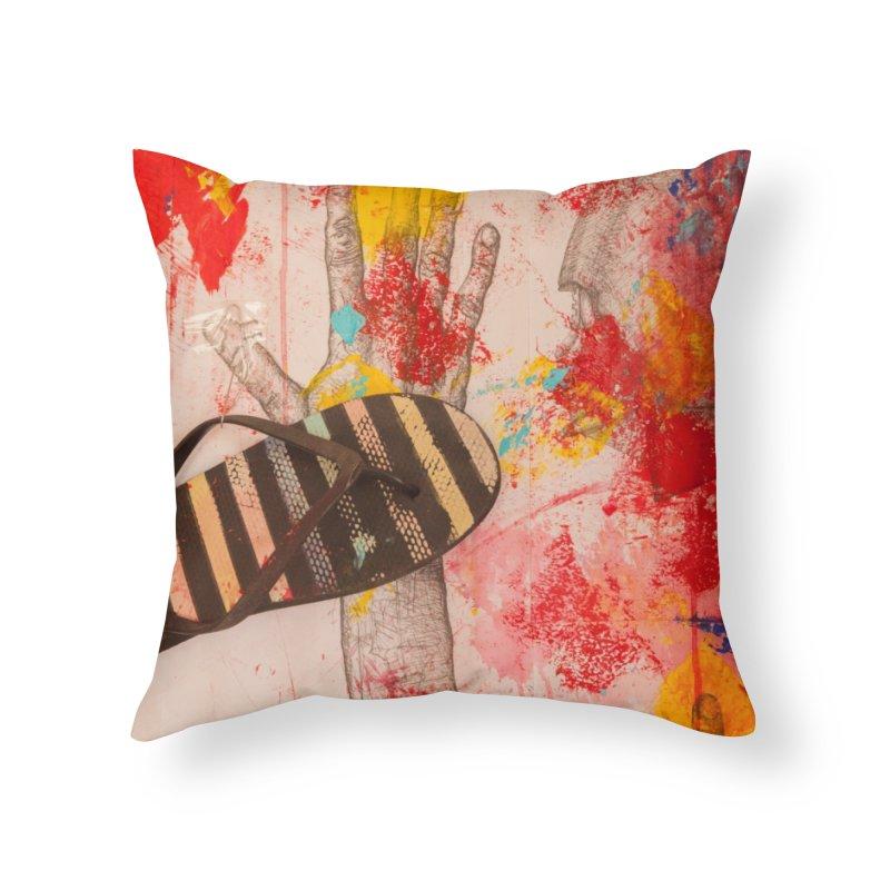 Red Helmet Home Throw Pillow by dimmerlight's Artist Shop