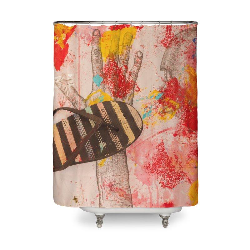 Red Helmet Home Shower Curtain by dimmerlight's Artist Shop