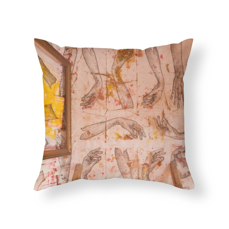 Hands Home Throw Pillow by dimmerlight's Artist Shop