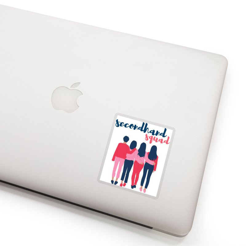 Secondhand Squad II in Clear Sticker by Secondhand Swag