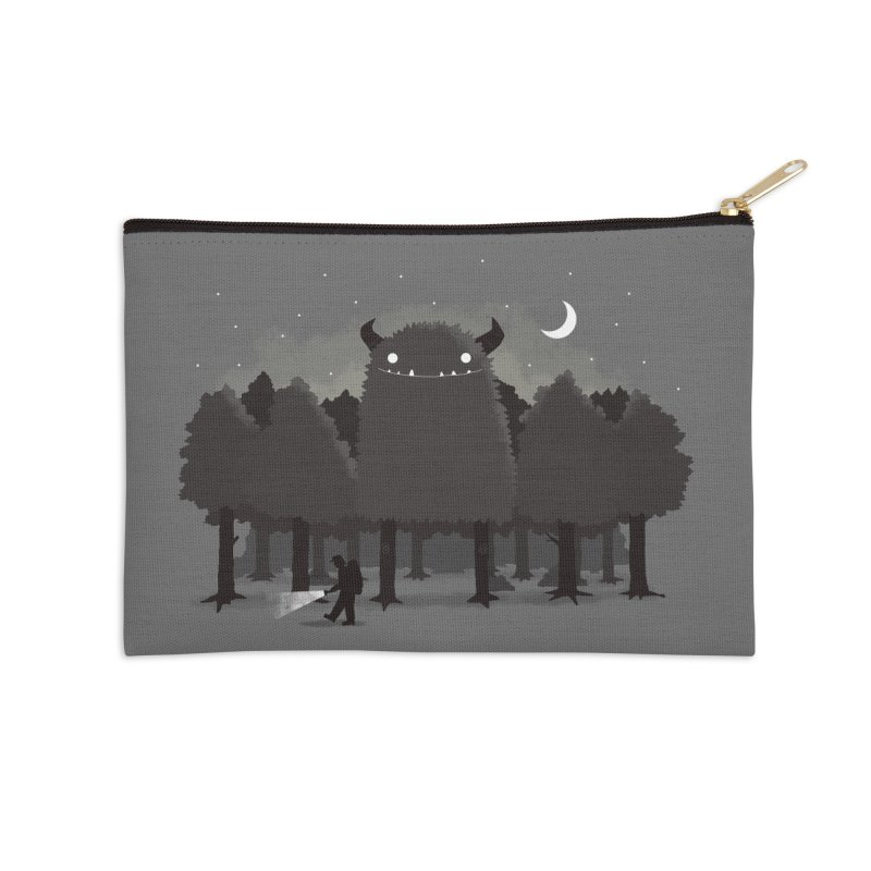 Monster Hunting Accessories Zip Pouch by DinoMike's Artist Shop