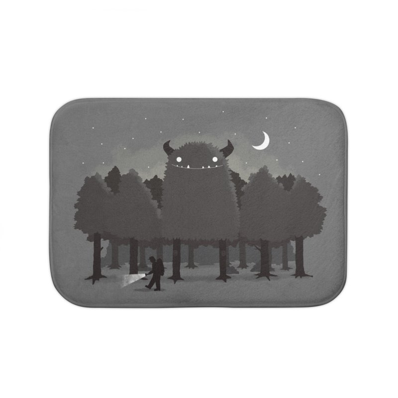 Monster Hunting Home Bath Mat by DinoMike's Artist Shop