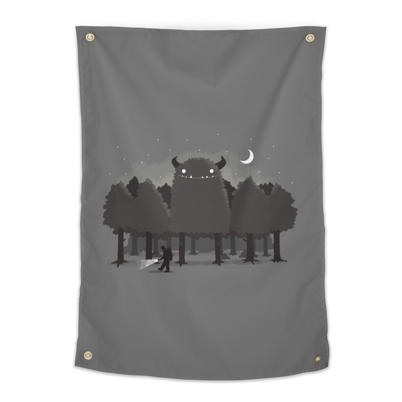 Monster Hunting Home Tapestry by DinoMike's Artist Shop