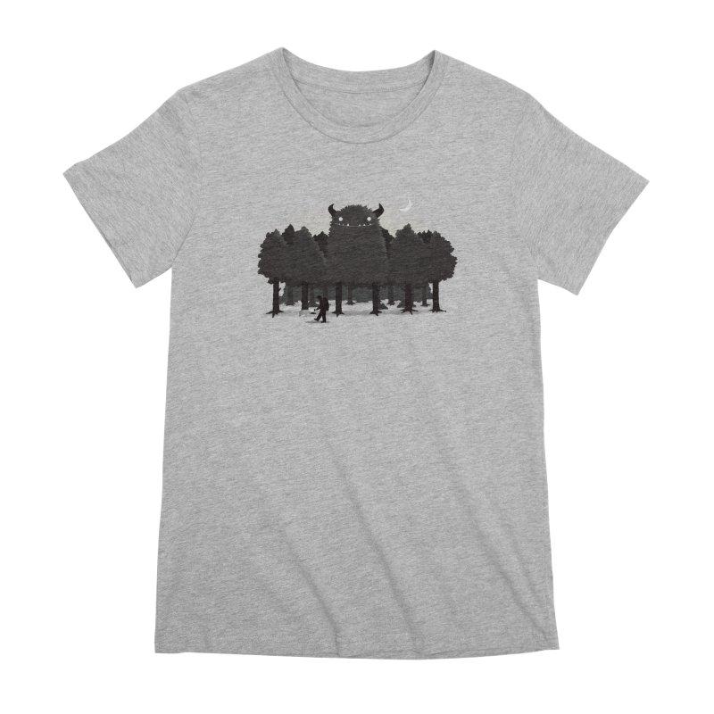 Monster Hunting Women's Premium T-Shirt by DinoMike's Artist Shop