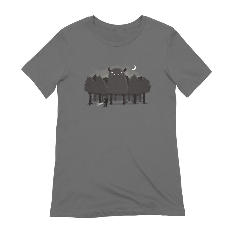 Monster Hunting Women's Extra Soft T-Shirt by DinoMike's Artist Shop