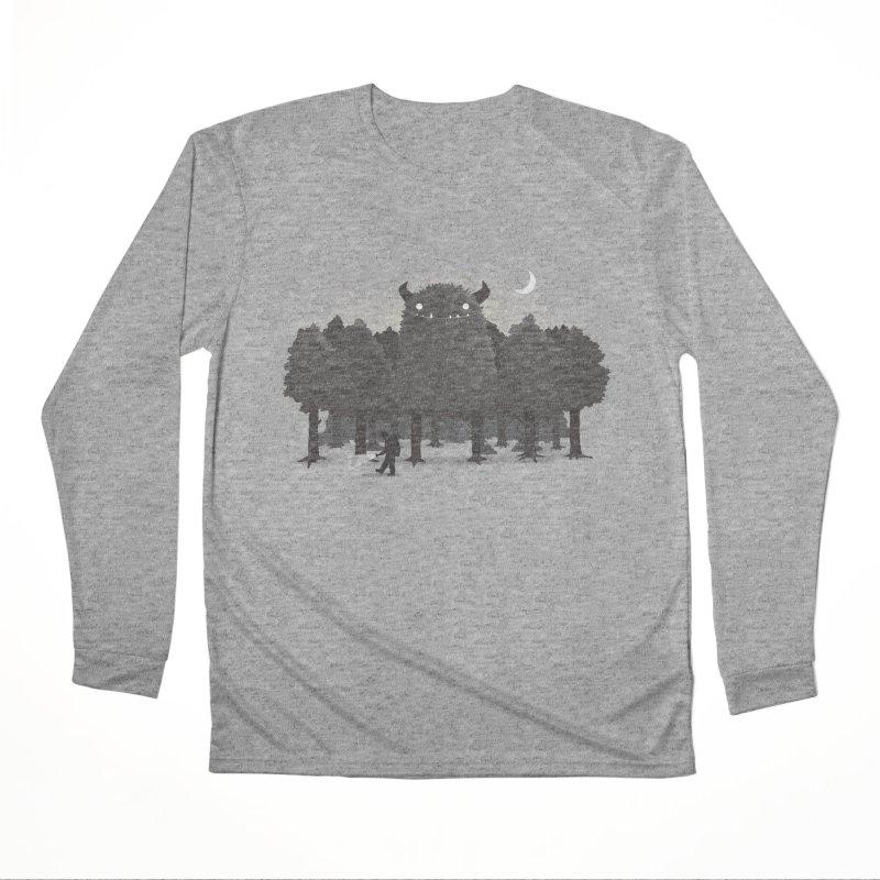Monster Hunting Men's Performance Longsleeve T-Shirt by DinoMike's Artist Shop
