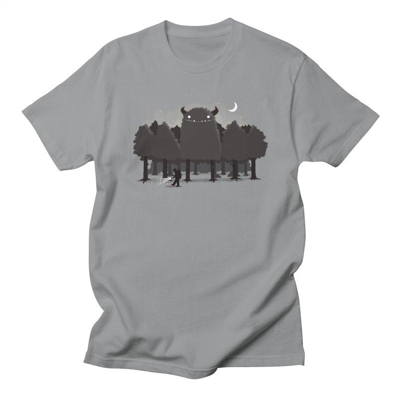 Monster Hunting Men's T-Shirt by DinoMike's Artist Shop