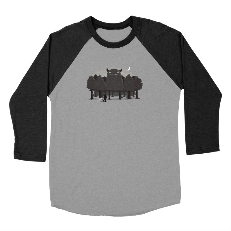 Monster Hunting Men's Baseball Triblend Longsleeve T-Shirt by DinoMike's Artist Shop