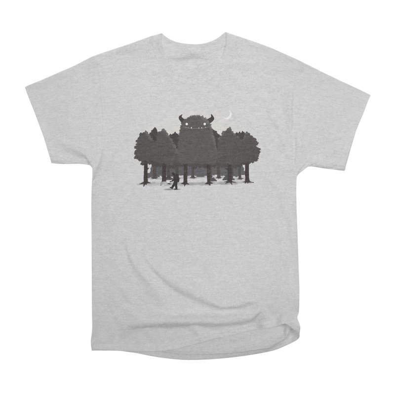 Monster Hunting Men's Heavyweight T-Shirt by DinoMike's Artist Shop