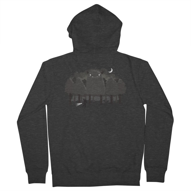Monster Hunting Men's French Terry Zip-Up Hoody by DinoMike's Artist Shop
