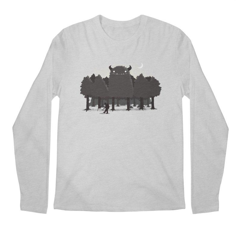Monster Hunting Men's Regular Longsleeve T-Shirt by DinoMike's Artist Shop