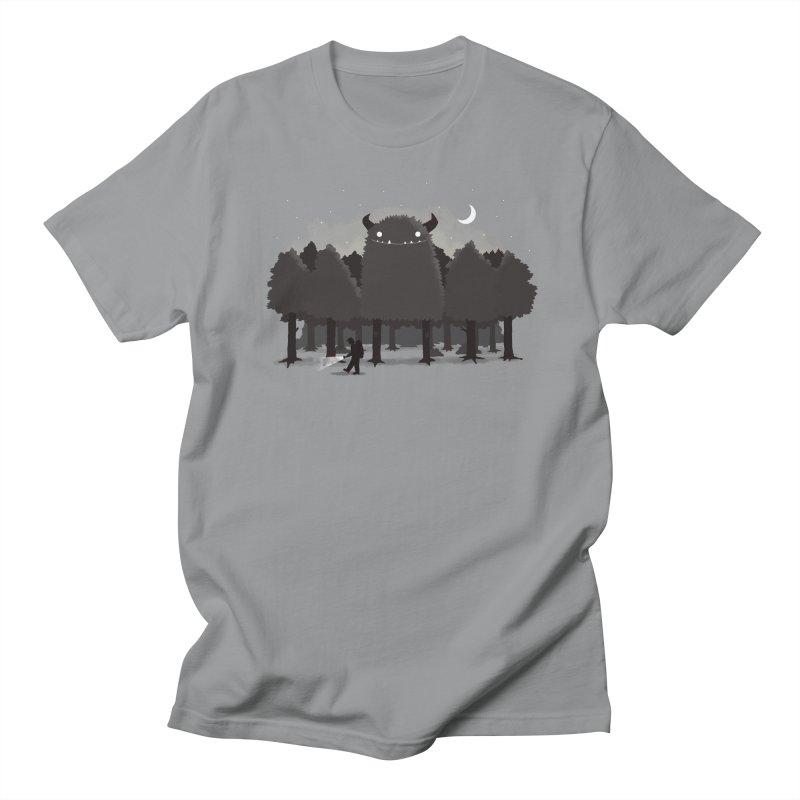 Monster Hunting Men's Regular T-Shirt by DinoMike's Artist Shop