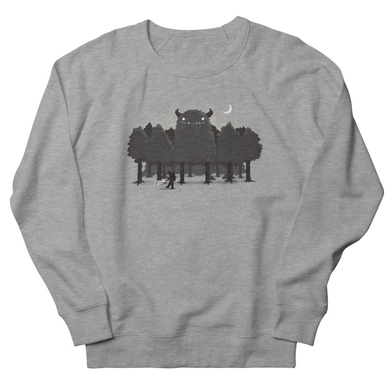 Monster Hunting Women's French Terry Sweatshirt by DinoMike's Artist Shop