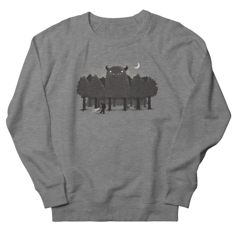 Monster Hunting Men's French Terry Sweatshirt by DinoMike's Artist Shop