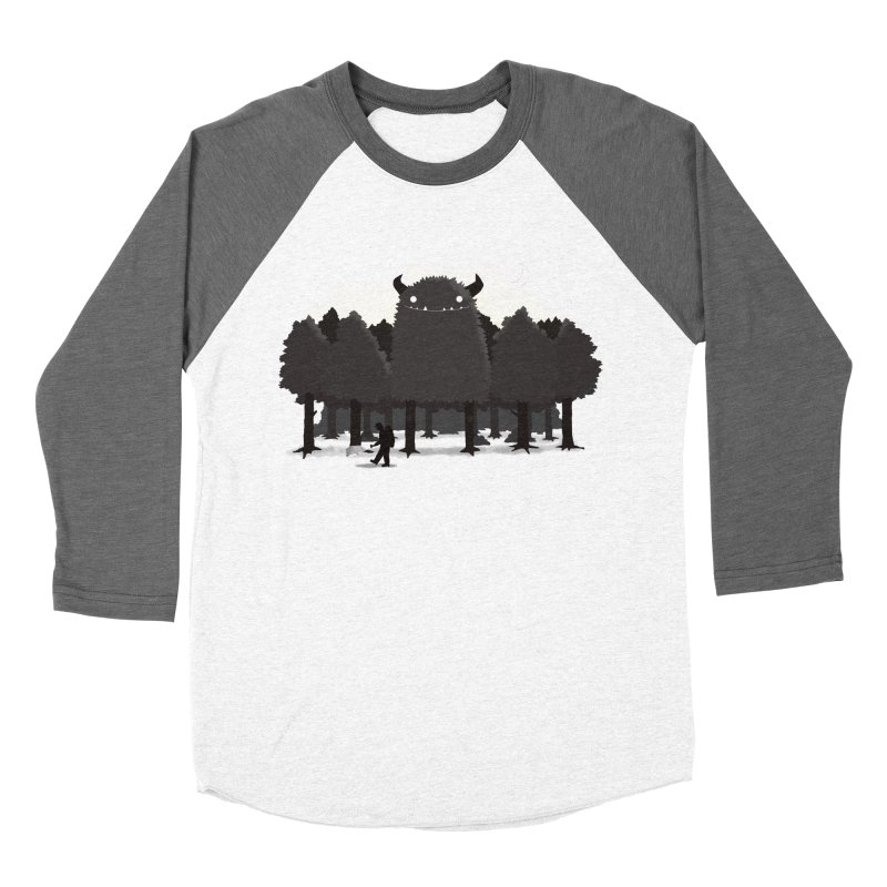 Monster Hunting Women's Baseball Triblend Longsleeve T-Shirt by DinoMike's Artist Shop